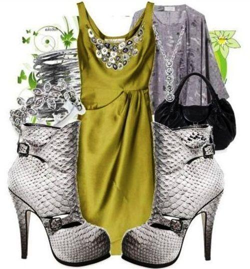 Kombinacija sive i zelene
