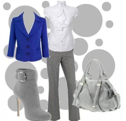 Kombinacija sive i plave