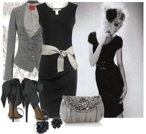 Kombinacija sive sa crnim i bijelim bojama