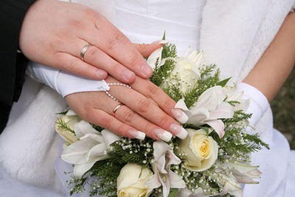 Vjenčanje noktiju fotografija