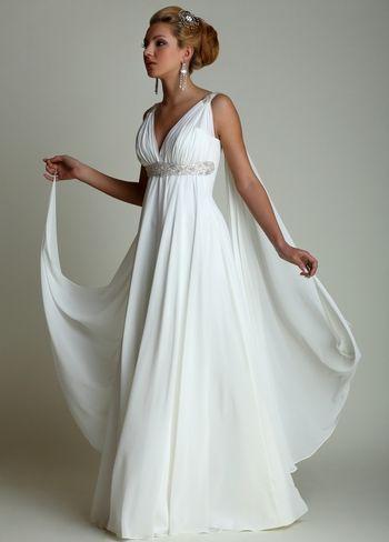 Свадебное платье в греческом стиле — отличное решение для невесты. Фото с сайта baby.ru