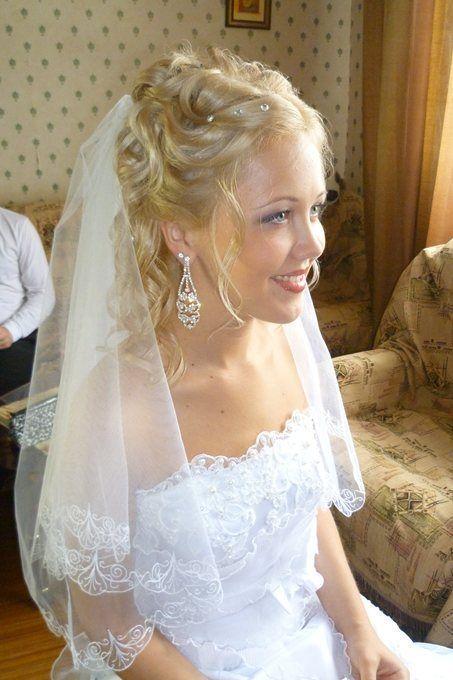 Свадебные прически с фатой-3