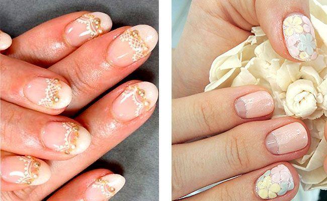 vjenčanje manikir kratkim noktima za dvije boje