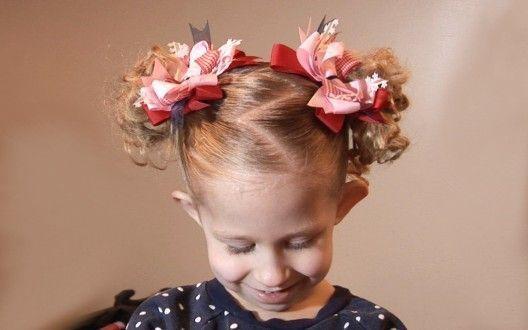 прическа для коротких волос, девочка