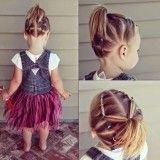 прическа из хвостиков на короткие волосы детские