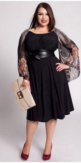 večerní šaty pro obézní