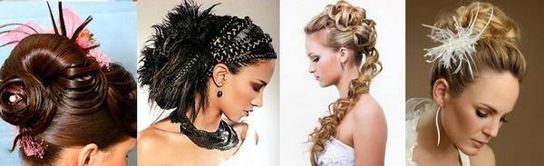 Длинные волосы — различные способы укладки к свадьбе. Фото с сайта http://silky-hair.ru/